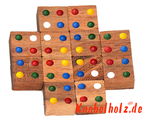 Solution for colour match box large in Samanea wood brain teaser colour puzzle