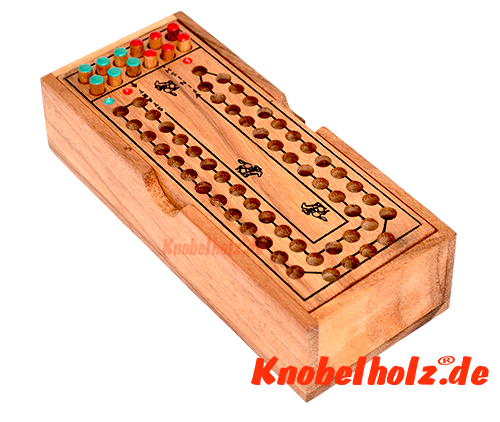 Horse Racing Wooden game with dice for 2 persons