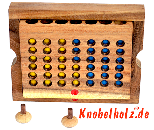 Monkey Pod Connect four game in wooden case from Samanea wood
