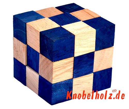 Snake Cube Level Box Solution Blue Cube P192 Lbs