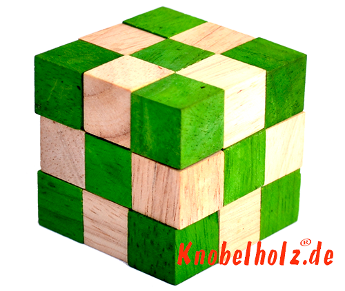snake cube level green wooden games wooden puzzle brainteaser