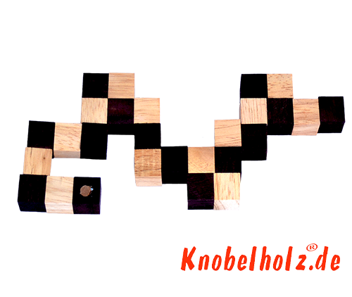 Snake cube solution of the color nature brown beige the snake cube level box step 1 of the solution wooden puzzle