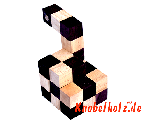 Snake cube solution of the color nature brown beige the snake cube level box step 10 of the solution wooden puzzle