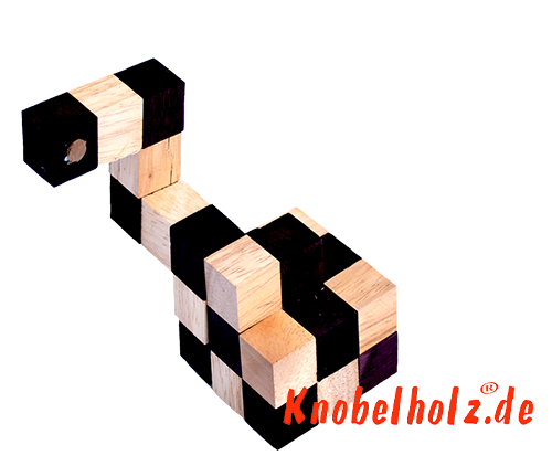 Snake cube solution of the color nature brown beige the snake cube level box step 9 of the solution wooden puzzle