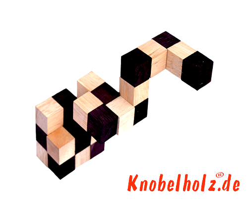 Snake cube solution of the color nature brown beige the snake cube level box step 7 of the solution wooden puzzle