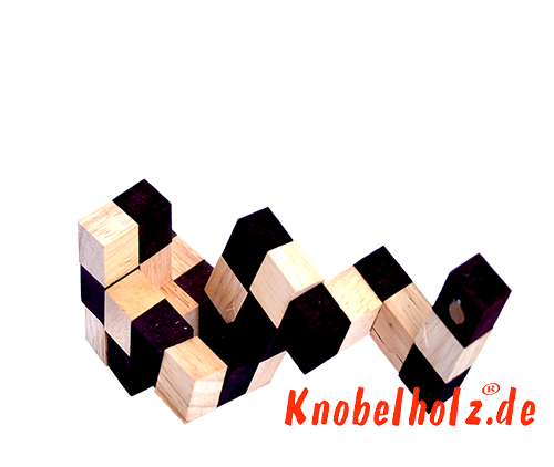 Snake cube solution of the color nature brown beige the snake cube level box step 6 of the solution wooden puzzle
