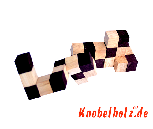 Snake cube solution of the color nature brown beige the snake cube level box step 5 of the solution wooden puzzle