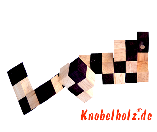 Snake cube solution of the color nature brown beige the snake cube level box step 4 of the solution wooden puzzle