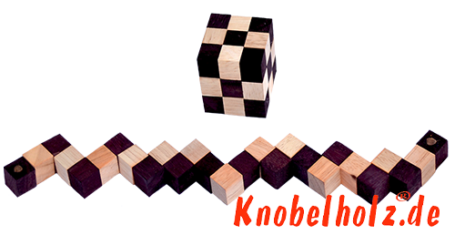 Snake Cube natural brown the Snake Cube Level Box puzzle collection line up