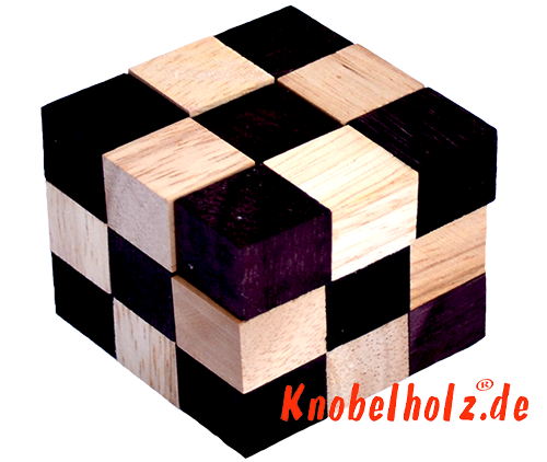snake cube natural brown the snake cube level box you can solve the snake cube