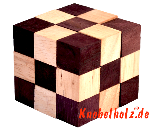 snake cube nature brown small from the snake cube level box samanea wood puzzle collection