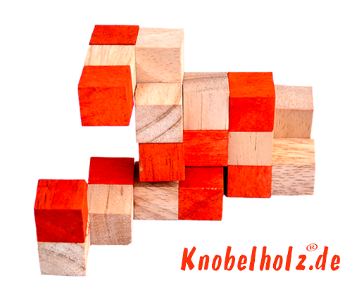 snake cube level box solution orange step 6 from solution for the snake cube wooden puzzle