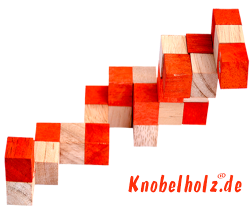 snake cube level box solution orange step 5 from solution for the snake cube wooden puzzle