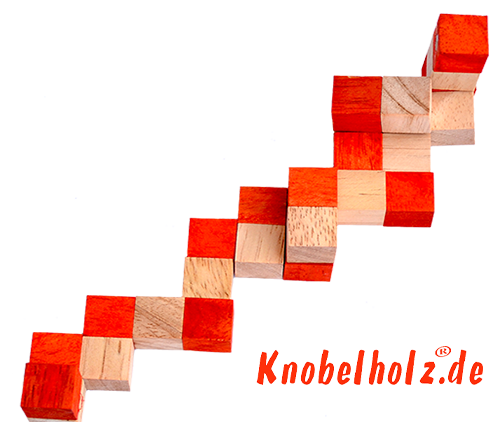 snake cube level box solution orange step 4 from solution for the snake cube wooden puzzle