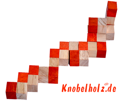 snake cube level box solution orange step 3 from solution for the snake cube wooden puzzle