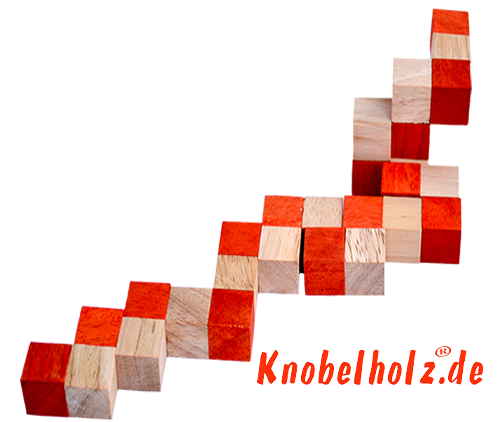 ssnake cube level box solution orange step 2 from solution for the snake cube wooden puzzle