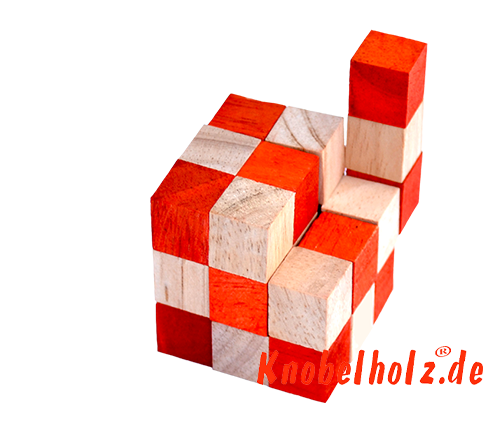 snake cube level box solution orange step 13 from solution for the snake cube wooden puzzle