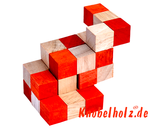 snake cube level box solution orange step 11 from solution for the snake cube wooden puzzle
