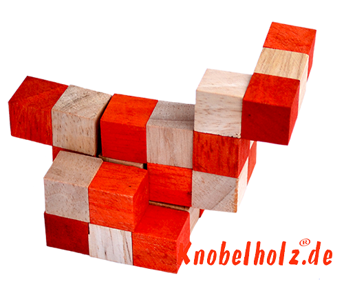 snake cube level box solution orange step 10 from solution for the snake cube wooden puzzle