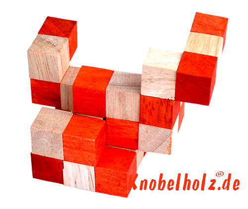 snake cube level box solution orange step 9 from solution for the snake cube wooden puzzle