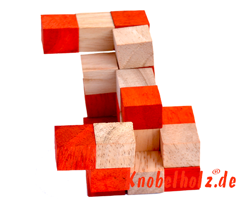 snake cube level box solution orange step 8 from solution for the snake cube wooden puzzle