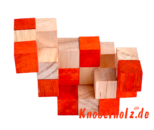 snake cube level box solution orange step 7 from solution for the snake cube wooden puzzle