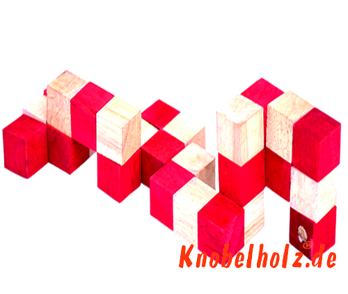 snake cube level box wooden puzzle guide red snake cube step 4 of the solution