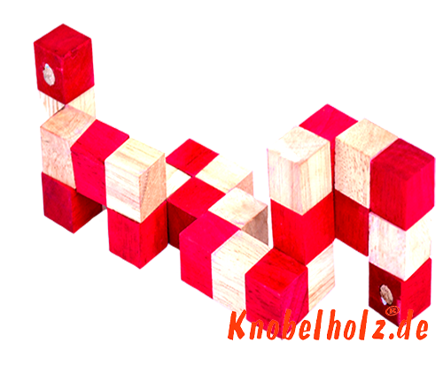 snake cube level box wooden puzzle guide red snake cube step 3 of the solution