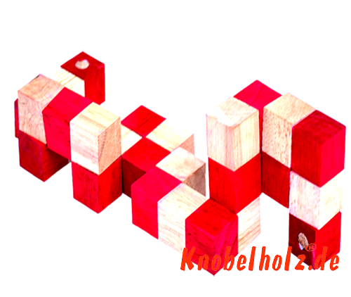 snake cube level box wooden puzzle guide red snake cube step 2 of the solution