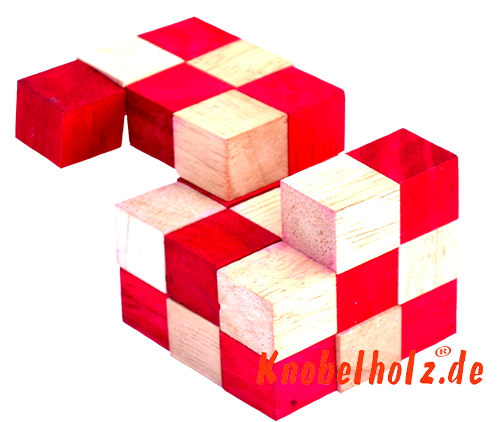 snake cube level box wooden puzzle guide red snake cube step 12 of the solution