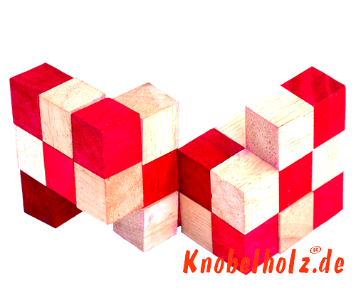 snake cube level box wooden puzzle guide red snake cube step 11 of the solution