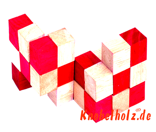 snake cube level box wooden puzzle guide red snake cube step 10 of the solution