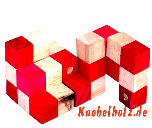 snake cube level box wooden puzzle guide red snake cube step 9 of the solution