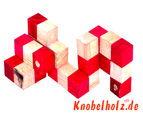 snake cube level box wooden puzzle guide red snake cube step 8 of the solution