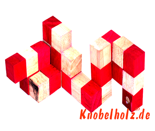 snake cube level box wooden puzzle guide red snake cube step 7 of the solution