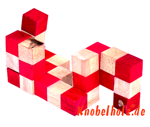 snake cube level box wooden puzzle guide red snake cube step 6 of the solution