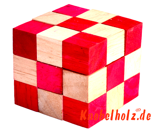 snake cube level box red solution snake cube from samanea wooden