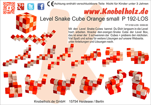 snake cube level box solution for the orange snake cubes as download