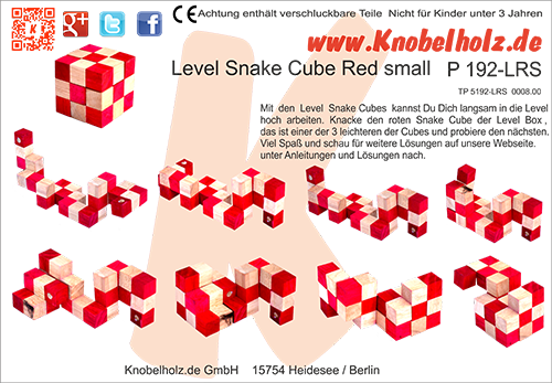 snake cube lebel box solution for the red snake cube as download