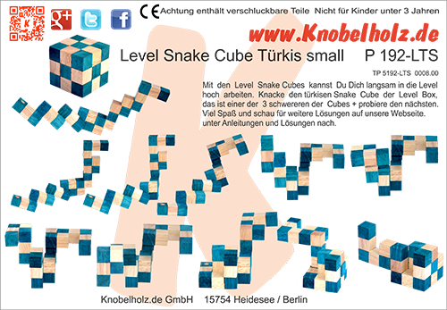 Solution for printing the Snake Cube Türkise small the Snake Cube Level Box