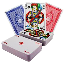 2x55 Cartes de l'ensemble de cartes, y compris 3 Joker pour le jeu Dog Game Tock ou Tack
