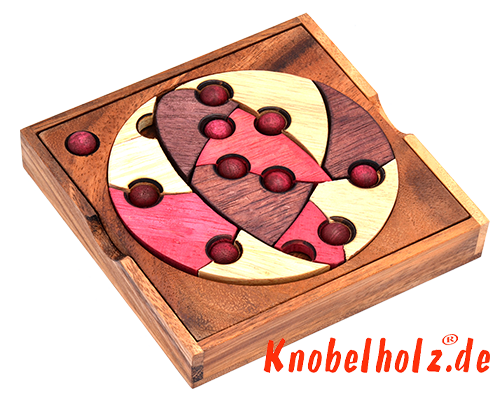 solutions for 2D puzzle in Samanea wood
