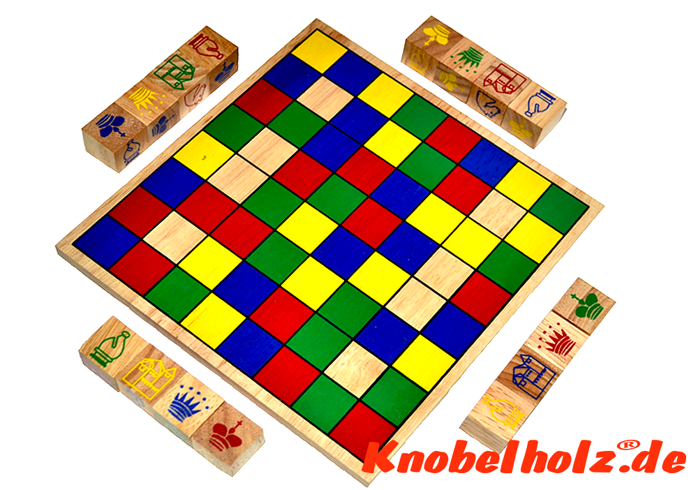 start position of ajongoo colour dice chess from knobelholz.de