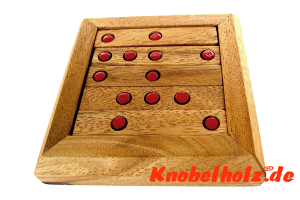 Deep Hole Peg Golf Puzzle Box Easy Box Knobelspiel in Holzbox mit den Maßen 12,5 x 12,5 x 3,5 cm samanea wooden brain teaser