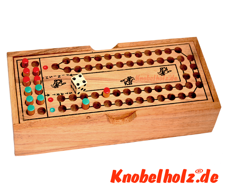 racing horses dice game for 2 player from Monkey Pod wooden in size of 20,4 x 8,4 x 3,7 cm , horse race game for 2 player samanea wooden dice game