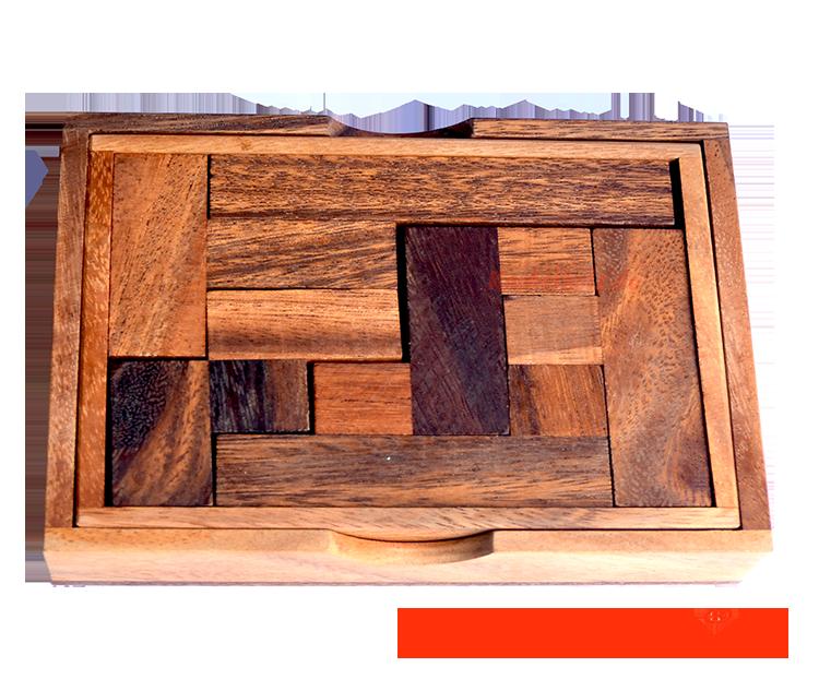 Topanto Holz Puzzle Pentominoes Box
