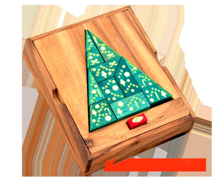Tannenbaum Puzzle.Weihnachtsbaum Puzzle Xmas Box