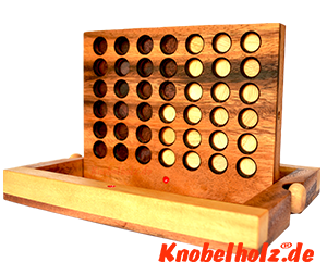 Samanea wooden strategy game vier gewinnt, connect four, monkey pod bingo mit chips