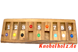 Shut the Box das Klappenspiel als Brett Version in Monkey Pod Holz, shut the box samanea wooden dice game