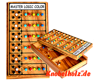 Master Logic Color Superhirn Logispiel als Holzvariante  in den Maßen 20,8 x 11,5 x 4,5 cm, master logic samanea wooden game